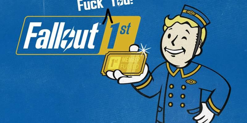 """Fallout 76: Utente compra il dominio """"falloutfirst.com"""" e realizza la parodia """"Fallout FUCK YOU 1st"""""""