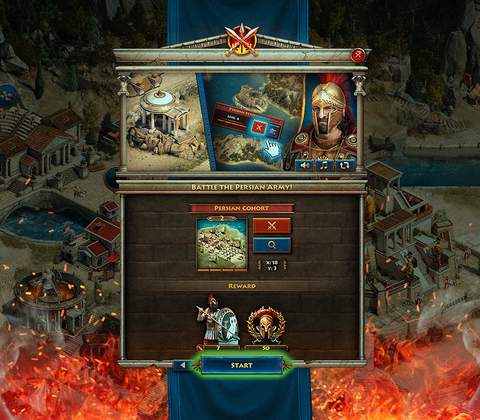 Sparta: War of Empires in-game screenshot 5