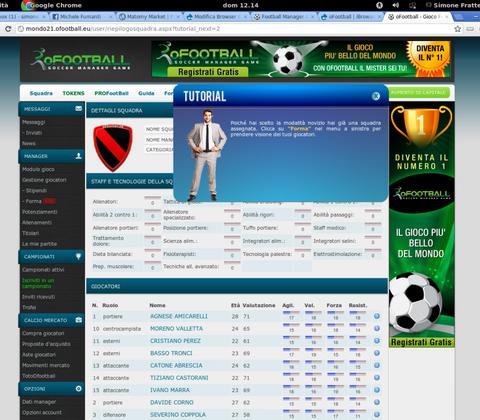 oFootball in-game screenshot 1