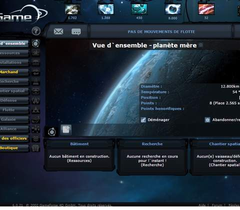 Ogame in-game screenshot 9