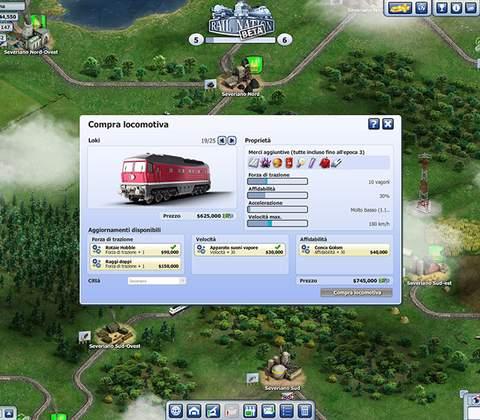 Rail Nation in-game screenshot 1