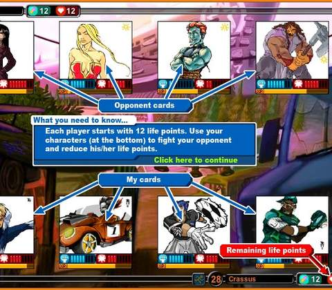 Urban Rivals in-game screenshot 1
