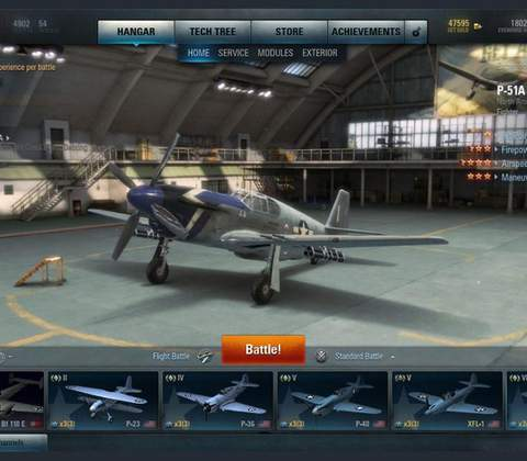 World of Warplanes in-game screenshot 5